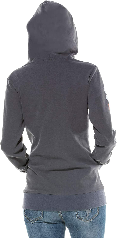Extreme Pop Damen Hoodie Sweatshirts Mit Kapuze French Terry Pullover Pullover Digitaldruck Tops UK Stock Grau