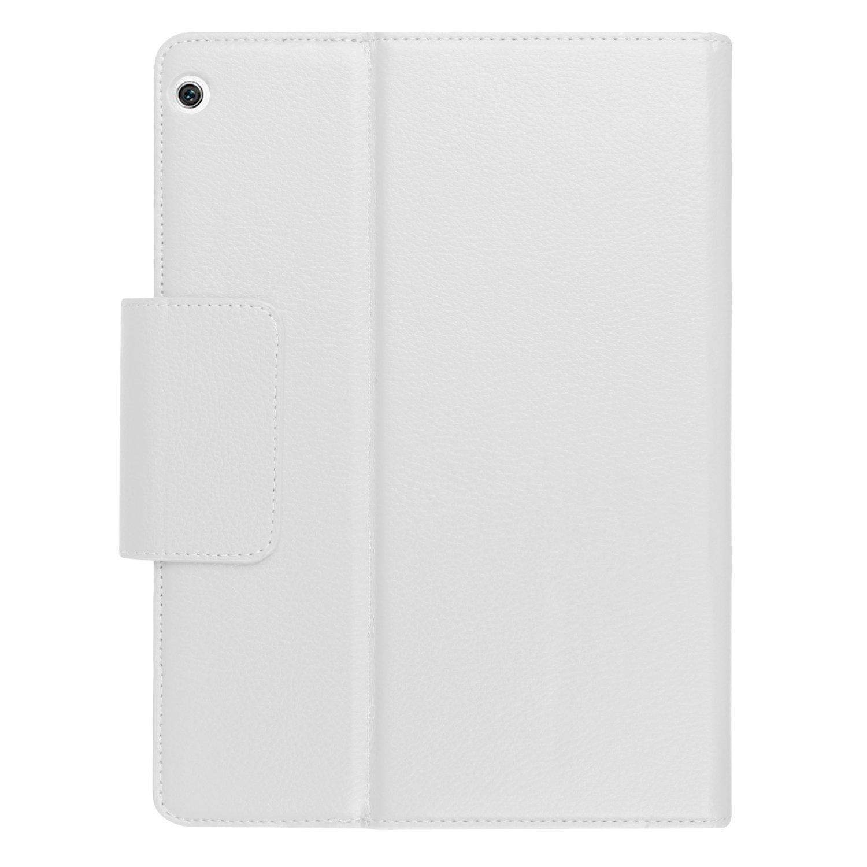 pcatec Huawei MediaPad M3 Lite 10 Teclado Funda - [versión nueva desmontable teclado oculto inalámbrico Bluetooth desmontable] muti-angle Folio PU Funda de ...