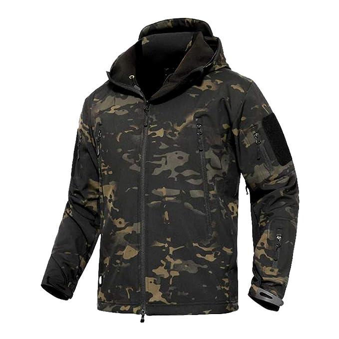 d7799ac85d8854 YuanDian Uomo Tattico Camouflage Softshell Giacca Autunno Inverno Outdoor  Militare Pile Fodera Impermeabile Antivento Giubbotto con