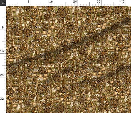 Steampunk fabric panel