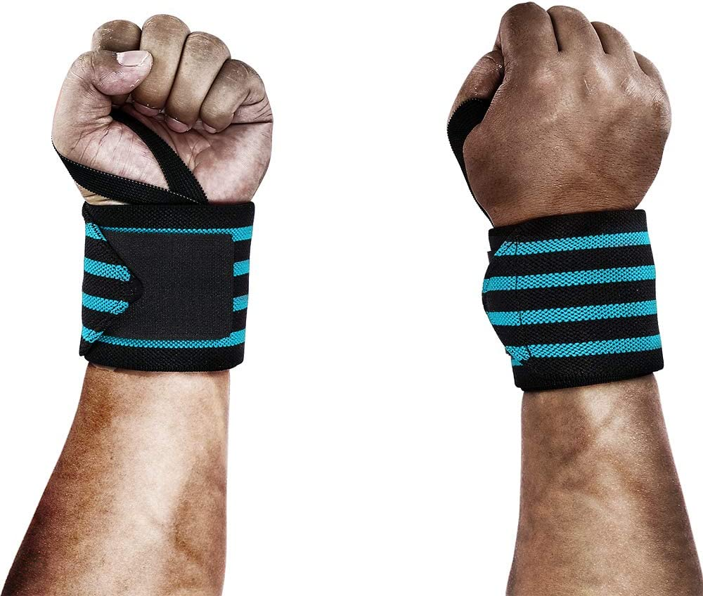 Weight Lifting Women Wrist Wraps with Thumb Loops 12 Professional Grade Strength Training Iron Bull Strength Powerlifting Wrist Support Brace and Compression for Cross Training
