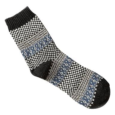 MIOIM Premium Men Winter Spring Warm Thick Wool Mixture Cashmere Crew Socks