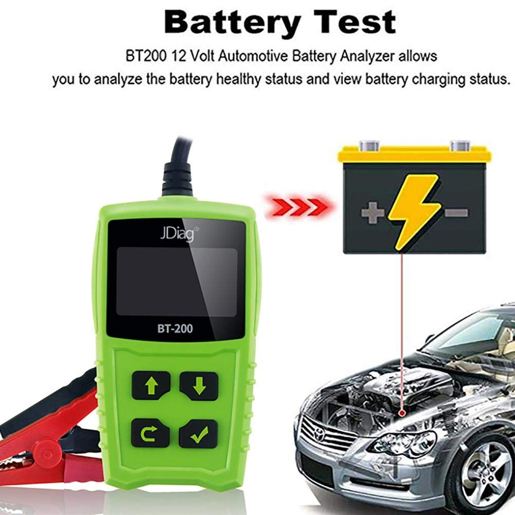 Zigtee JDiag FasCheck BT200 12V Auto Battery Tester Car Cranking and Charging System Test Scan Tool Battery Analyzer Diagnostic Tool for CCA MCA JIS DIN IEC EN SAE GB etc by Zigtee (Image #2)
