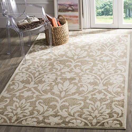 Wheat Rug (Safavieh Amherst Collection AMT424S Wheat and Beige Indoor/ Outdoor Area Rug (5' x 8'))