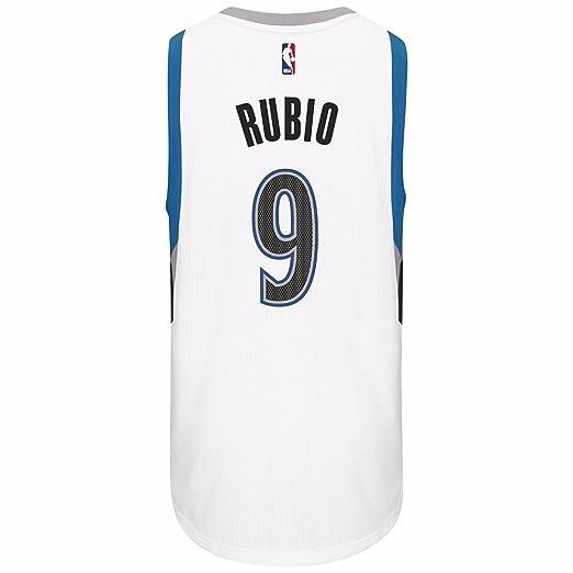e033d17b Amazon.com : Ricky Rubio Minnesota Timberwolves NBA Adidas White Official  Climacool Home Swingman Jersey For Men : Sports & Outdoors