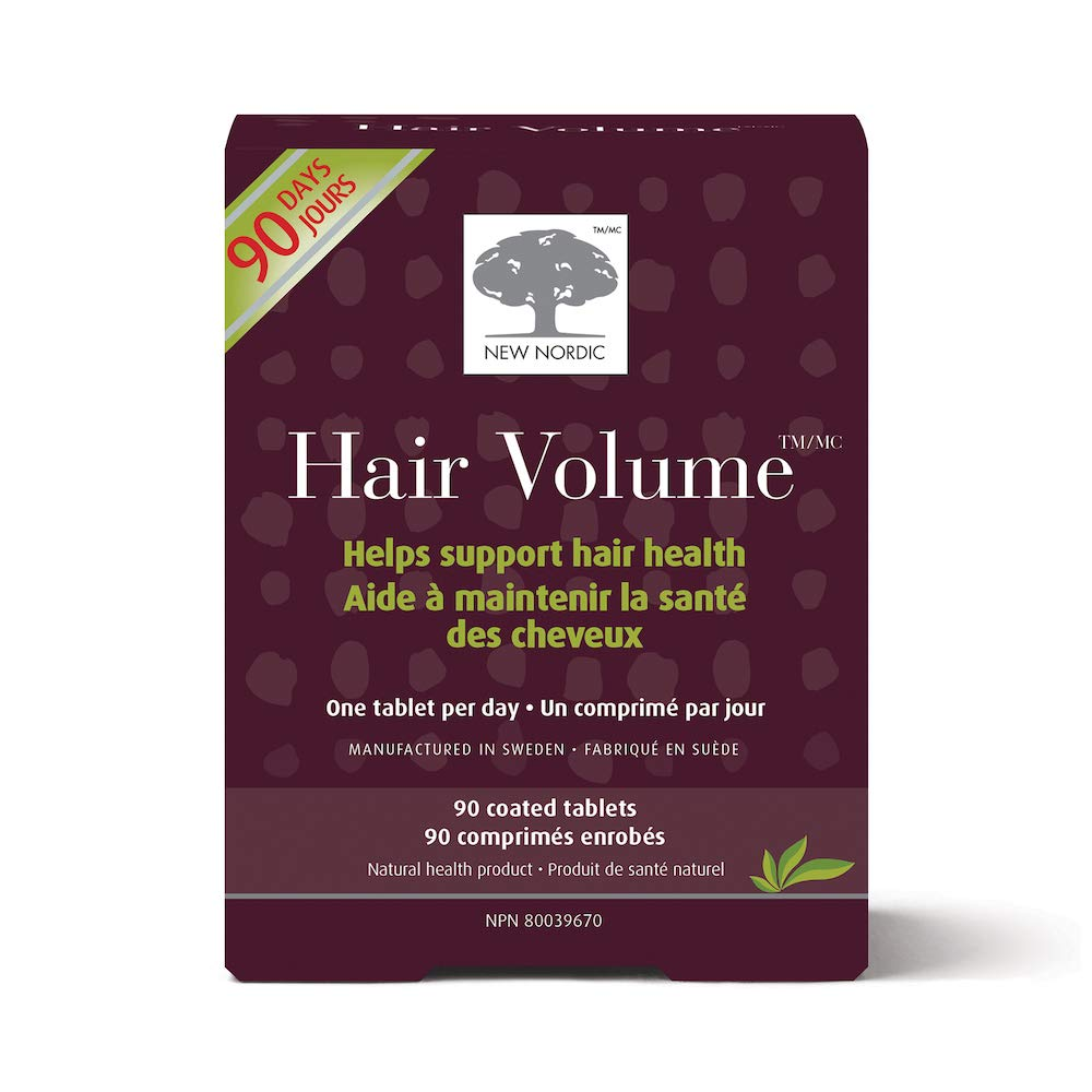 New Nordic Hair Volume, 90 Tablets Hair Growth Supplement, Biotin and Naturally Sourced Ingredients, Helps Reduce Hair Shedding by New Nordic