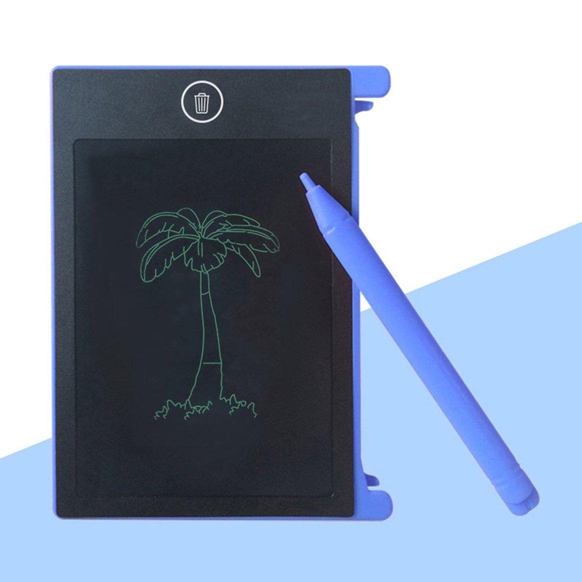 Tablero de escritura LCD portátil de 4.4 pulgadas Tablero de escritura electrónico Niños Adultos Tableta de dibujo Libreta para el hogar Delicacydex