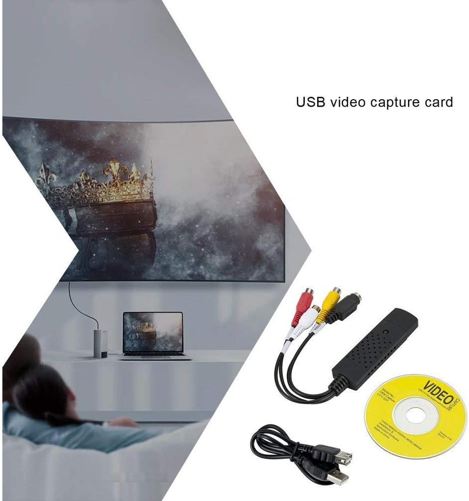 HehiFRlark Carte de Capture vid/éo USB avec Capture Audio Carte dacquisition de Surveillance USB Carte de Capture 1 Canal Win8 Win10