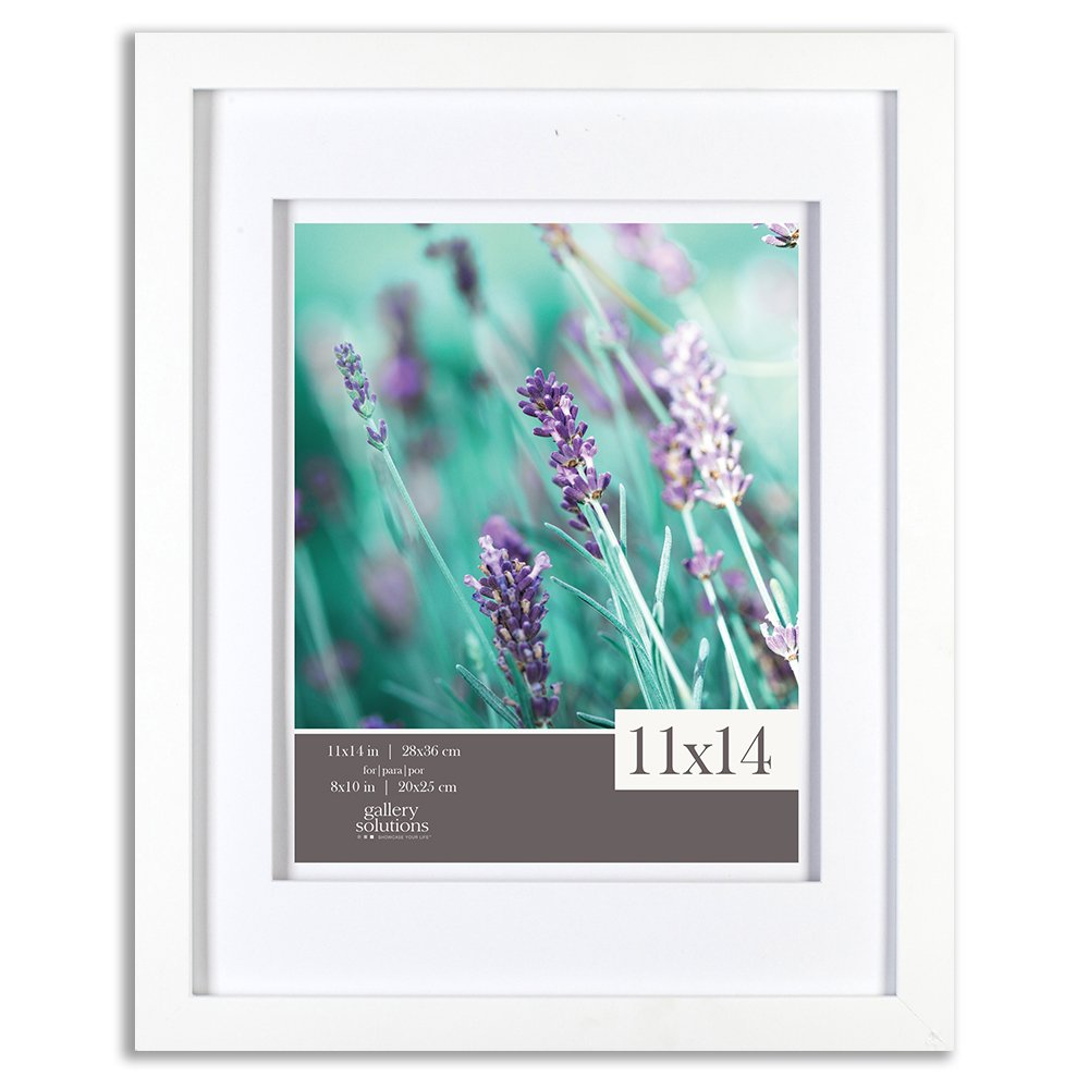 Gallery Solutions 12FW1118E Picture Frame, 11 inches x 14 inches, White & White by Gallery Solutions