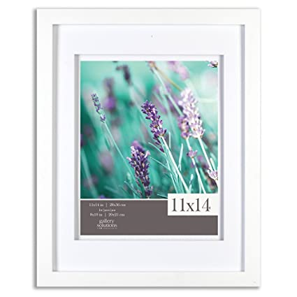 Amazoncom Gallery Solutions 11x14 White Wood Wall Frame With