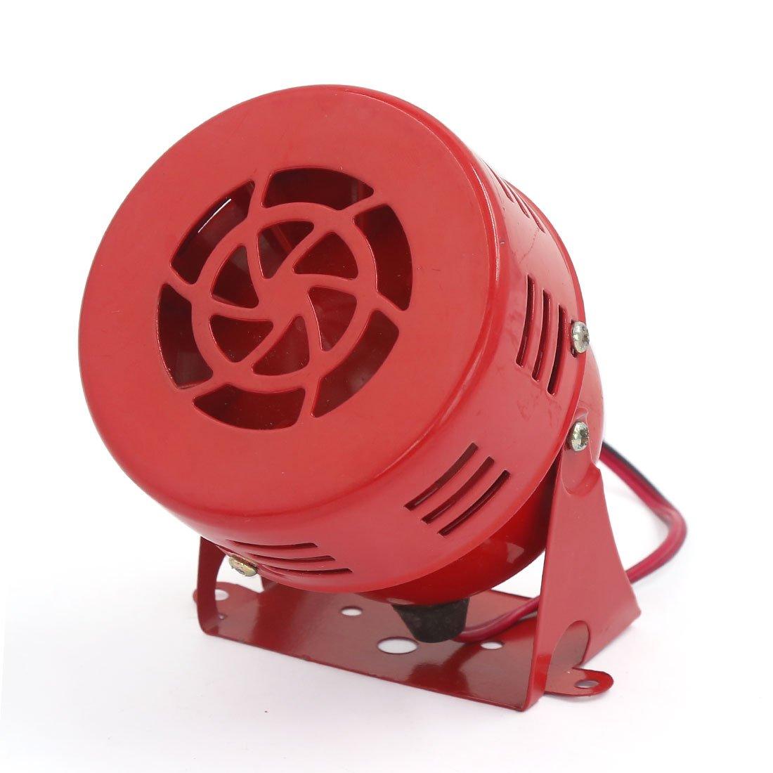 sourcing map 12V//24V Metal Rojo Fuerte Claxon de Alarma Moto Cami/ón Sirena de Aire Trumpeta 100dB