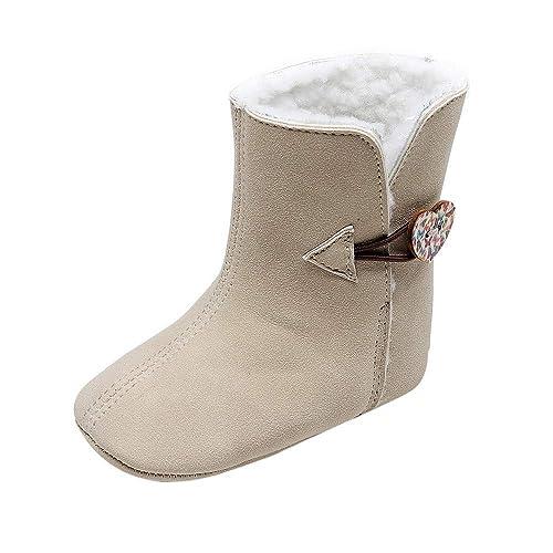 Topgrowth Stivali Primi Stivali Imbottiti Primi Inverno Primi Passi Scarpe  con Suola Morbida Suola Stivali da 732174b86e8