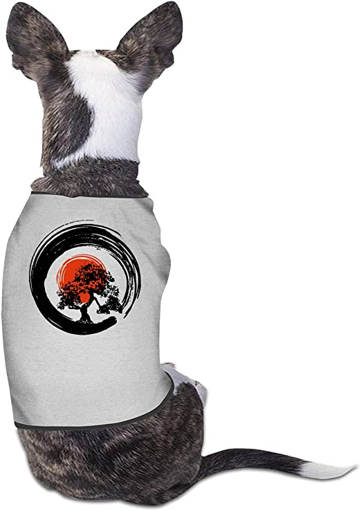 Amazon Com Colljl8 Bonsai Tree Japanese Calligraphy Rising Sun Zen Pet Clothing Costume Puppy Dog Clothes Vest Tee T Shirt Pet Supplies