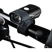 Tomshin Farol de bicicleta USB recarregável luz de bicicleta luz de aviso de liga de alumínio Luz frontal de bicicleta à…