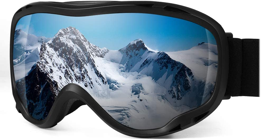 HiFives Ski Goggles, Snowboard Goggles UV Protection Anti Fog Snow Goggles for Men Women Youth