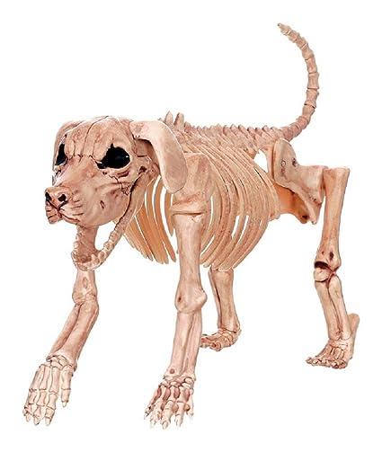 Crazy Bones Skeleton Dog Halloween Decoration White W80372