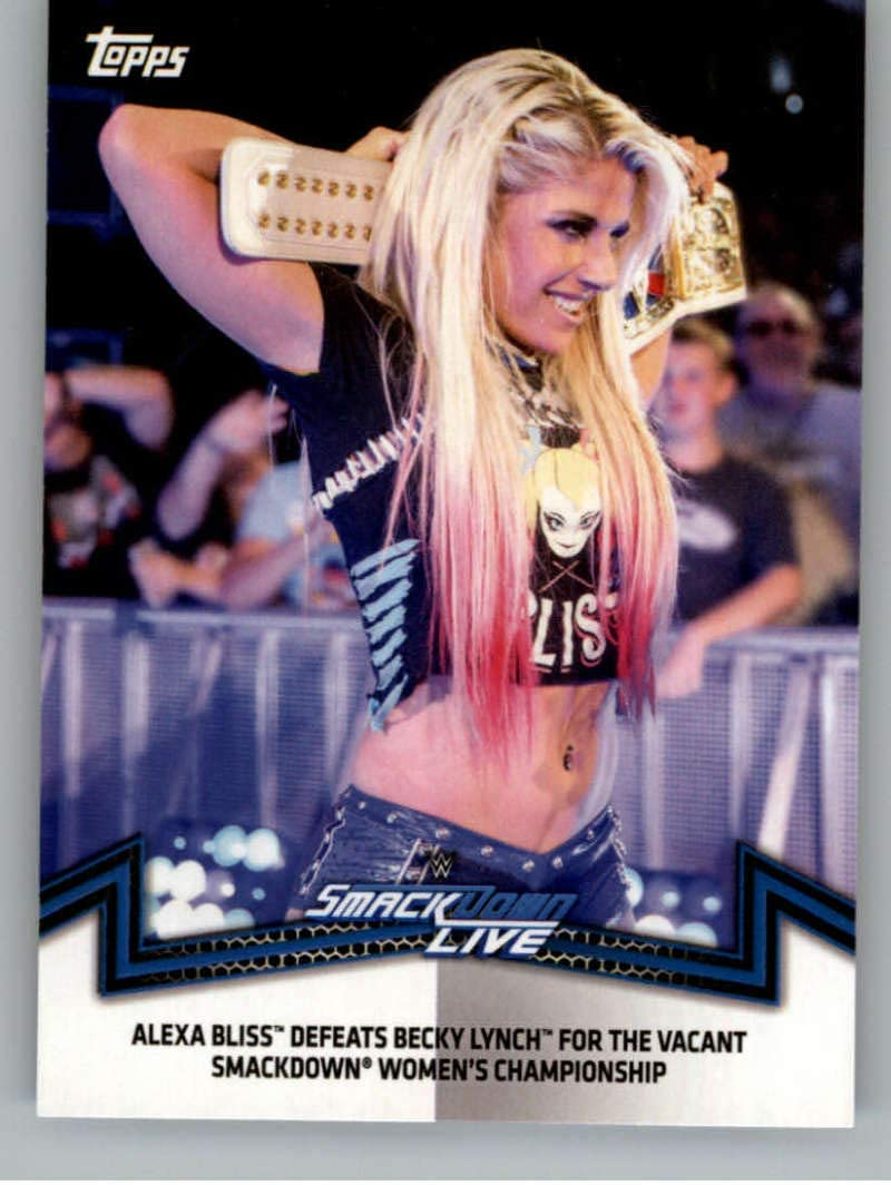 Wrestling Wrestling 2018 Topps WWE Womens Division Evolution Memorable Matches and Moments #SDL-4 Alexa Bliss Defeats Becky Lynch