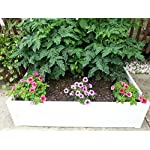 "Handy Bed 4 x 4 Stack-able, White, Vinyl, Raised Garden Bed 15 Actual Dimensions: Outer (47.25"" x 47.25"" x 6.00"") Inner (45.00"" x 45.00"" x 6.00"") Stack-able, Relocatable, Paint-able Simple design makes assembly easy"