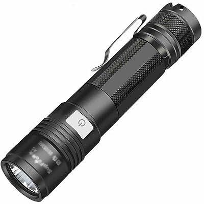 USB rechargeable lampe de poche A5 étanche 5 modes noir ( couleur : 10 W )