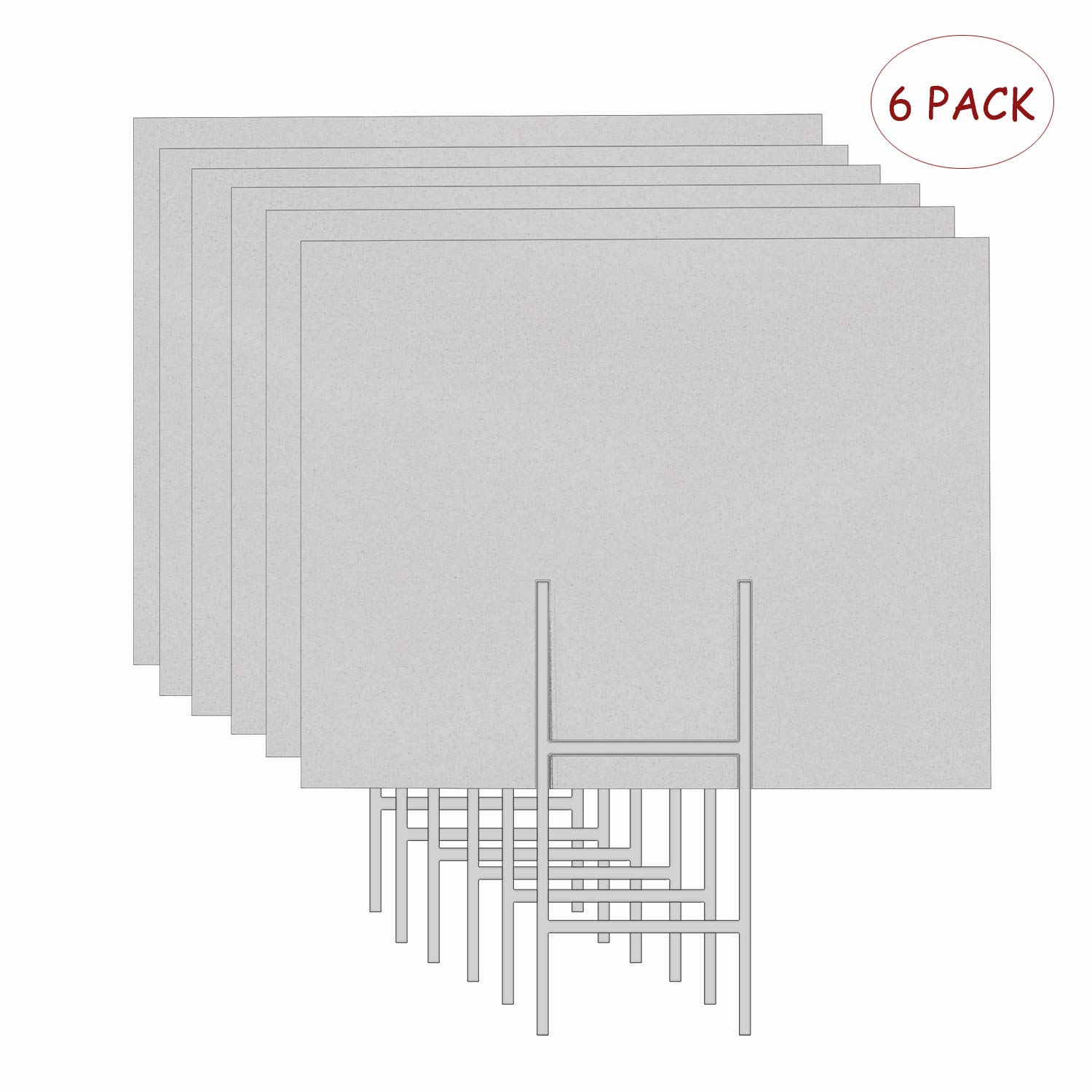 Amazon com mejor conocido 6 pack 24x18 white blank lawn yard signs corrugated plastic sheet with durable h stakes opening business garage rent