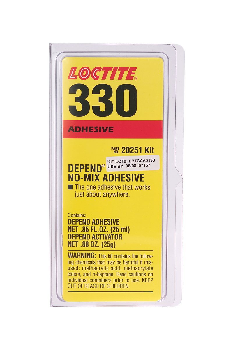 Loctite 20251 Pale Yellow 330 Depend Adhesive, 67500 cP Viscosity, 25 mL, 0.85 fl. oz. Kit HL1690727