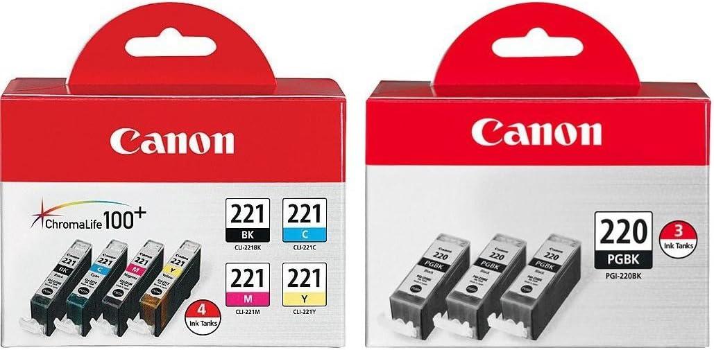 PACK PGI-220 CLI-221 Ink Tank for Canon Printer Pixma MX860 MX870 MP560 50