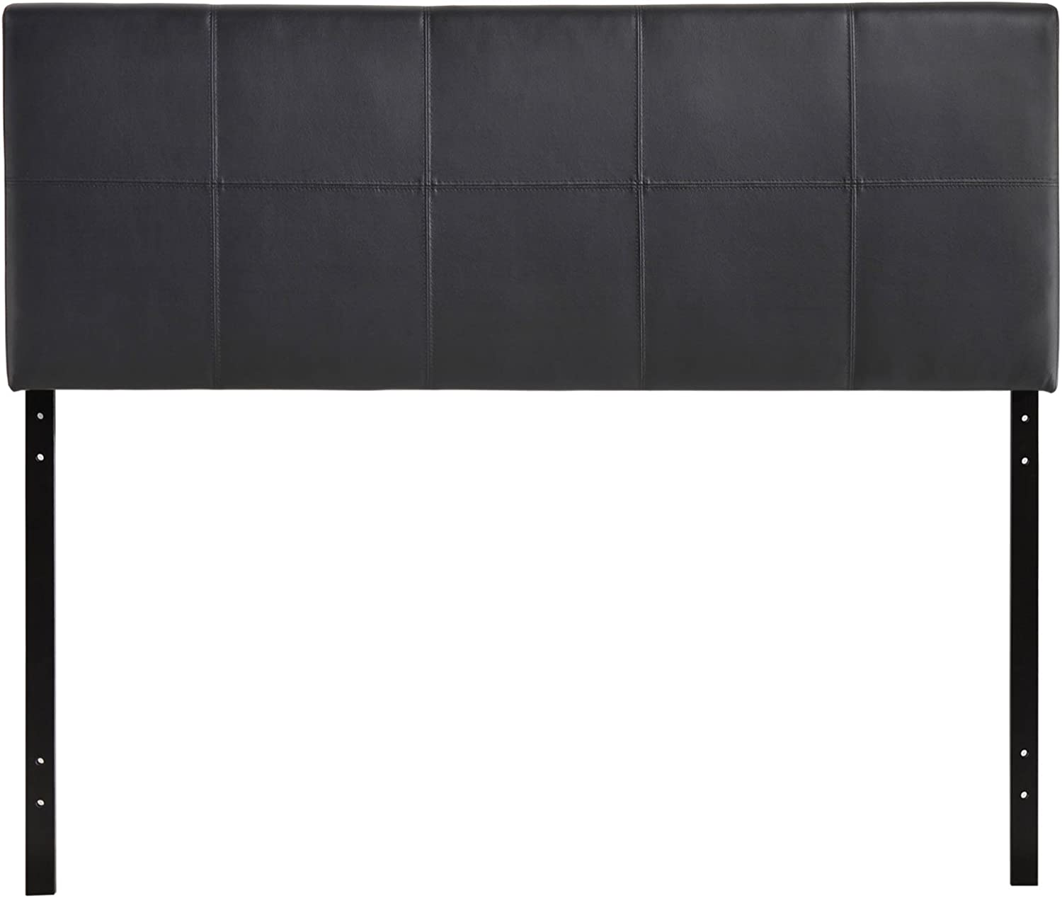 Modway Oliver Faux Leather Upholstered Queen Headboard in Black