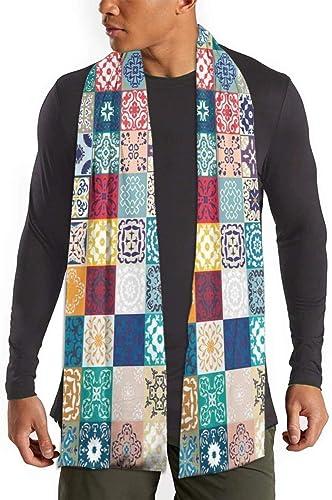 RROOT Bufanda de patchwork, diseño vintage de Lisboa, España, Túnez, para mujer, hombre, ligera, unisex, de moda, suave invierno: Amazon.es: Ropa y accesorios