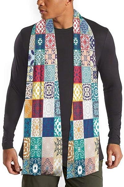 FlyGG Bufanda de patchwork, diseño vintage de Lisboa, España, Túnez, para mujer, hombre, ligera, unisex, de moda, suave invierno: Amazon.es: Ropa y accesorios