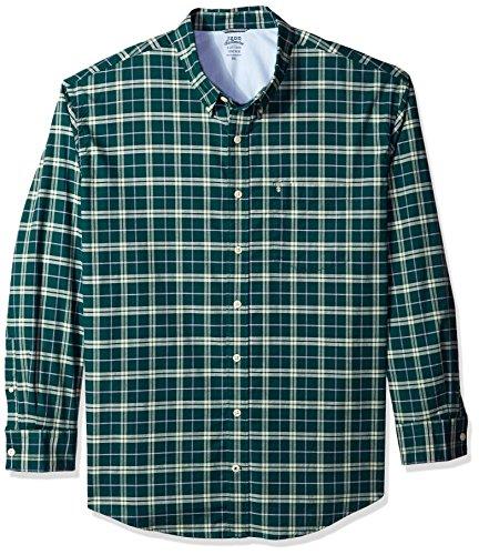 Bugs Long Sleeve Shirt (IZOD Men's Tall Long Sleeve Oxford Plaid Shirt, Deep June Bug, 2X-Large Big)