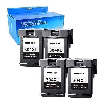 Ouguan® 4X Negro Remanufacturado HP 304 XL 304 Cartuchos de ...
