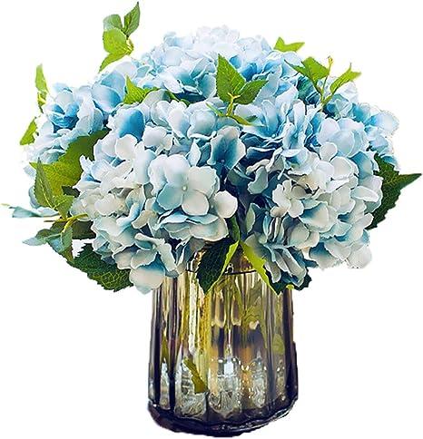 Rose vase, Bleu pays Affichage Crème Fleur artificielle arrangement