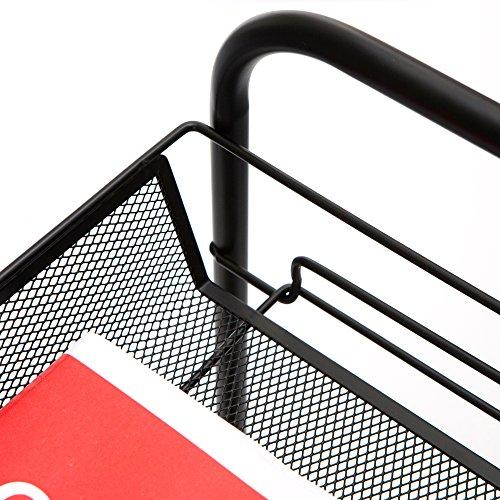 Mind Reader Metal 4 Tier all-Purpose Utility Cart, Black by Mind Reader (Image #6)