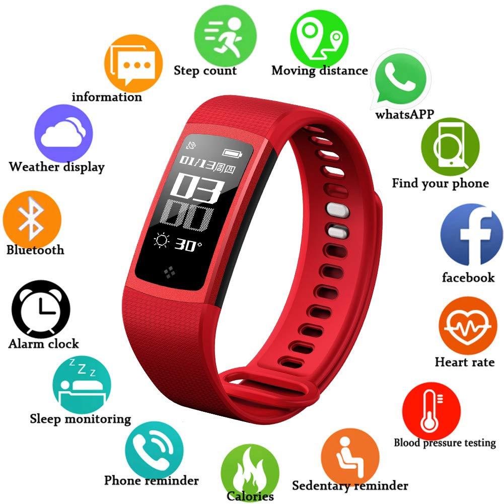 LIGE Fitness Tracker, Cardiofrequenzimetro Orologio intelligente Bluetooth Con Monitoraggio del sonno Chiama promemoria Sport all'aperto Braccialetto intelligente Impermeabile Orologio fitness Uomo Pedometro Android & IOS