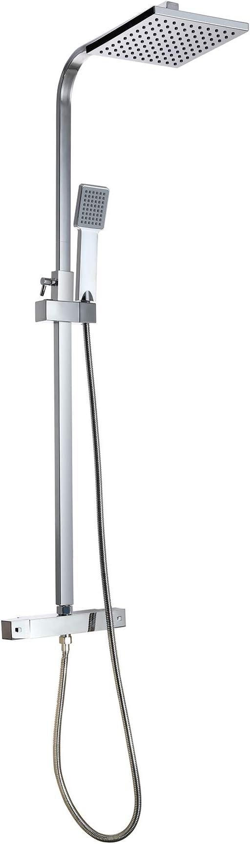 Sfeomi 200mm Columna de Ducha Termostático Panel Termostático ...