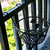 Tosnail 3 Pack Hanging Railing Planter Flower Pot