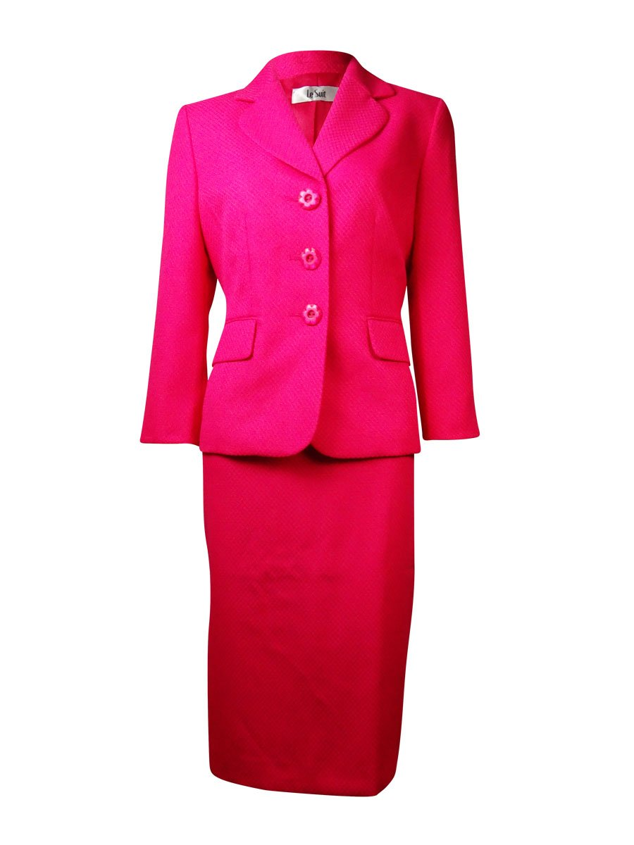 Le Suit Womens Petites 2PC Knee-Length Skirt Suit Pink 8P by Le Suit