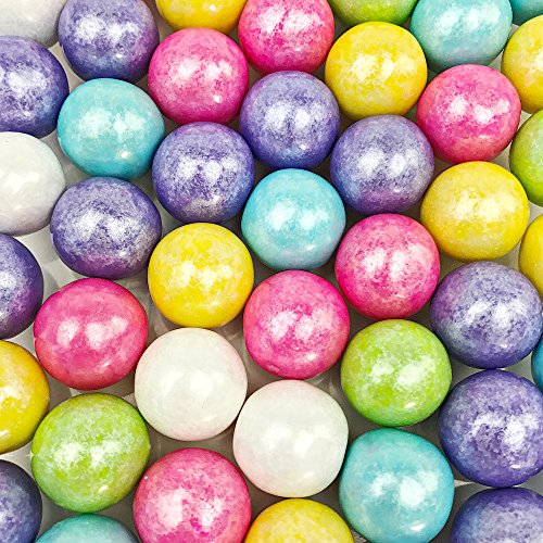 - Shimmer Spring Gumballs - 2 Pound Bags - Large - One Inch in Diameter - About 120 Gumballs Per Bag - Free How To Build a Candy Buffet Guide Included