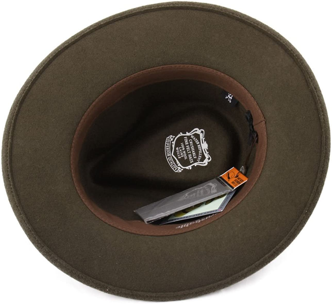 Marky LIndocile Wool Felt Fedora Hat Packable Water Repellent