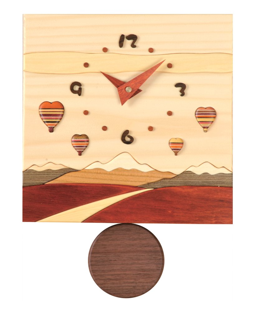 旭川家具 工房ペッカー 寄せ木振り子時計 J6 B00MB0L9U2