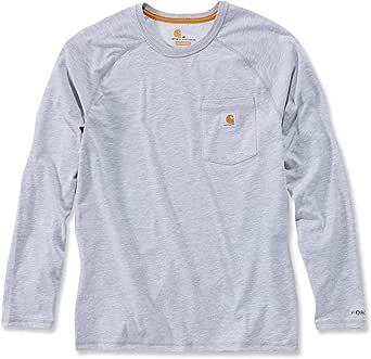 Carhartt Force Cotton Delmont Long-Sleeve T-Shirt Camiseta Funcional de Trabajo de los Hombres