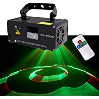Party Lights Remote Mini Stage Lamp 3D Light Beam 7 Colors Projection Sound Activated Strobe Projector Club Bar Karaoke -617