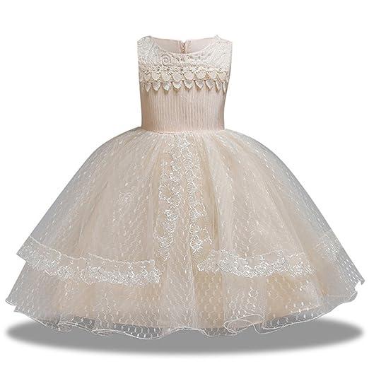 Amazoncom Kissourbaby Girl Dress Elegant Wedding Party 1 12 Years