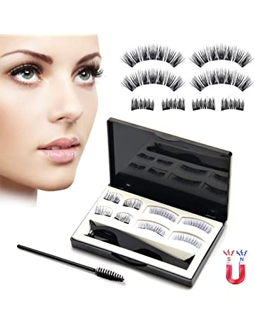 3667afbdd2e Upgraded Magnetic Eyelashes Natural Look, Lcat No Glue Full Eye and Half  Eye 2 Magnets