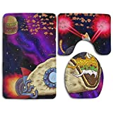 HOMESTORES Perfect Gifts - Space Taco Laser Cat Thicken Skidproof Toilet Seat U Shaped Cover Bath Mat Lid Cover