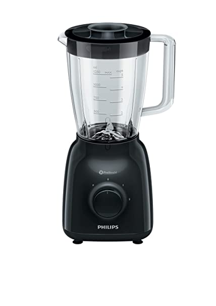 Philips Licuadora/Batidora de Vaso, Color Negro HR2145/90, 500 W,