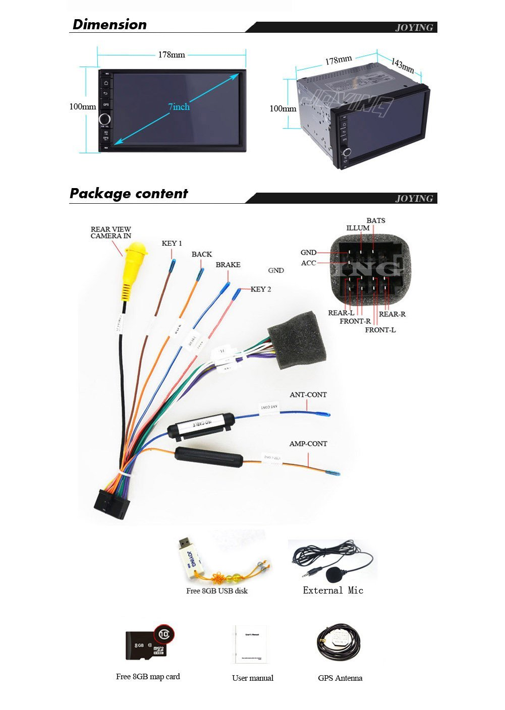 Joying Jy Uq124 Android 444 Car Stereo With Gps Odyssey Ups Circuit Diagram Navigation Hd Capacitive Muti Touch Screen