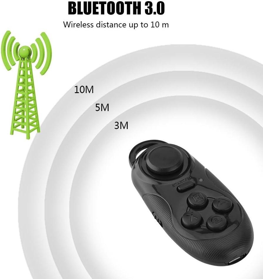 ASHATA Mini Portable Wireless Bluetooth Controller Ebook iPod Ipad PC iPhone Samsung Remote Gamepad Music Player Camera Shutter for VR Virtual Reality