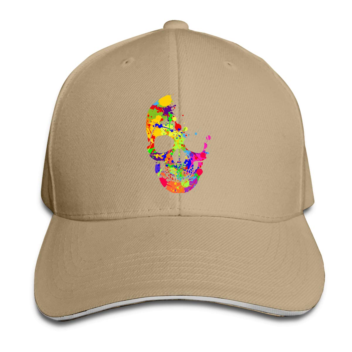 Rainbow Skull Outdoor Snapback Sandwich Cap Adjustable Baseball Hat Street Rapper Hat
