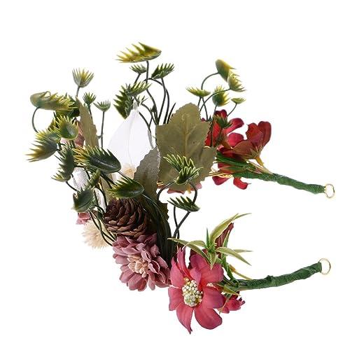 Magideal Boho Blumen Krone Blume Fee Stirnband Haar Girlande